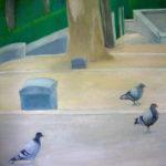 Jardin Mont-Martre, huile sur papier 98/132, 2013