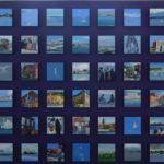 Collection, 54 huile sur papier de23/23 présentées sur un support en bois, installation dans le cadre de la saison culturelle turque à l'été photgraphique de Lectoure, 2009